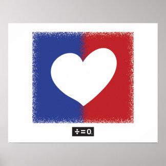 Patriotisches rotes weißes und blaues poster