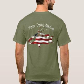 Patriotisches Schweinsnapper-Shirt T-Shirt