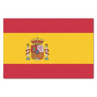 Patriotisches Seidenpapier mit Flagge von Spanien