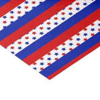 Patriotisches Sternstreifenmuster-Partygewebe Seidenpapier