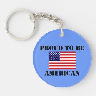 Patriotisches stolzes, amerikanische amerikanische schlüsselanhänger