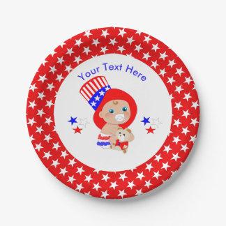 Patriotisches Uncle Sam Amerikanisches Baby Pappteller