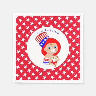 Patriotisches Uncle Sam Amerikanisches Baby Servietten
