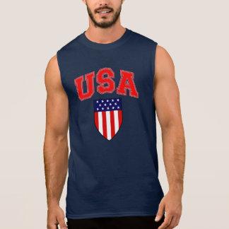 Patriotisches USA-Flagge-Schild Ärmelloses Shirt