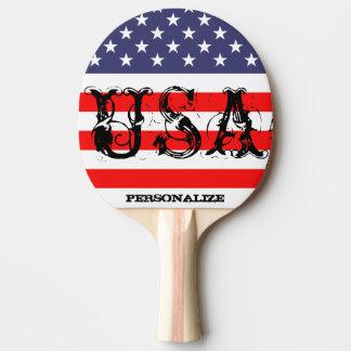 Patriotisches USA-Klingeln pong Paddel mit Tischtennis Schläger