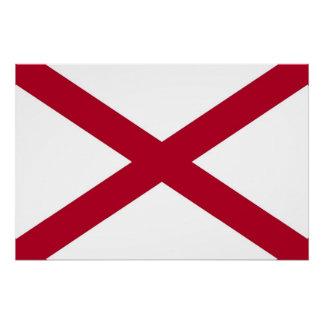 Patriotisches Wandplakat mit Flagge von Alabama, Poster
