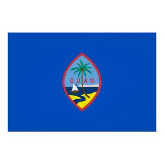 Patriotisches Wandplakat mit Flagge von Guam Poster