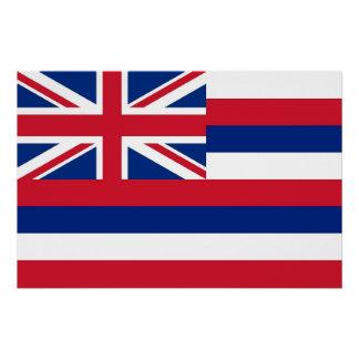 Patriotisches Wandplakat mit Flagge von Hawaii Poster