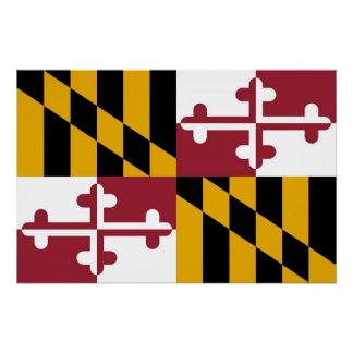 Patriotisches Wandplakat mit Flagge von Maryland Poster