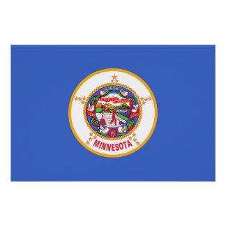 Patriotisches Wandplakat mit Flagge von Minnesota Poster