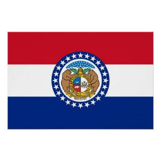 Patriotisches Wandplakat mit Flagge von Missouri Poster
