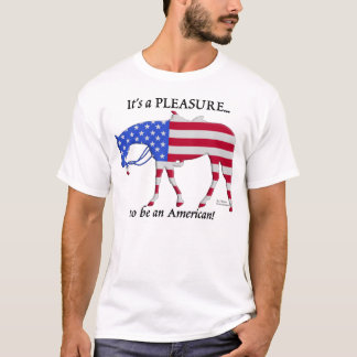 Patriotisches Western-Vergnügens-Pferd T-Shirt