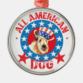 Patriotisches Wheaten Silbernes Ornament