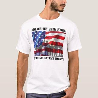 Patriotisches Zuhause vom freien wegen des T-Shirt