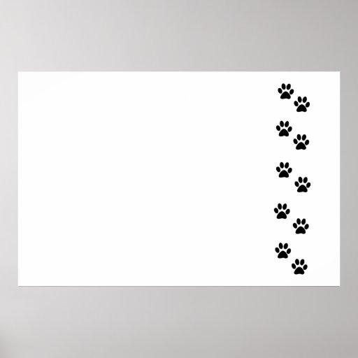 Pattes de chien, traces, empreintes de pattes - no posters