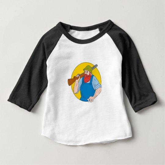 Paul Bunyan das Jäger-Kreis-Zeichnen Baby T-shirt