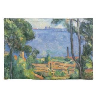 Paul Cezanne - Ansicht von L'Estaque und Chateaux Stofftischset