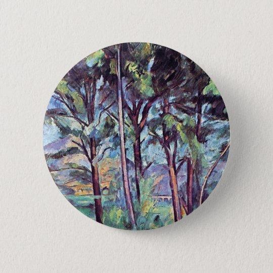 Paul Cezanne - Kiefern und Aquädukt-schöne Kunst Runder Button 5,7 Cm