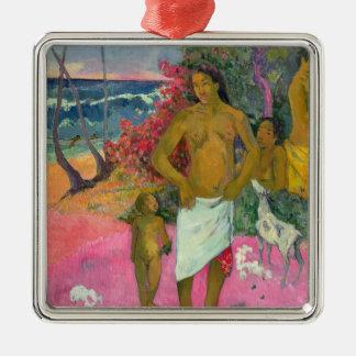 Paul Gauguin | ein Weg durch das Meer, 1902 Quadratisches Silberfarbenes Ornament