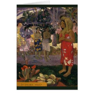 Paul Gauguin-Hagel Mary 1891 CC0456 Karte