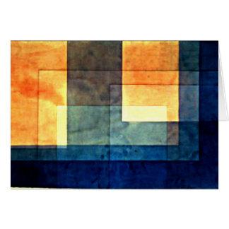 Paul Klee, Haus auf dem Wasser Karte