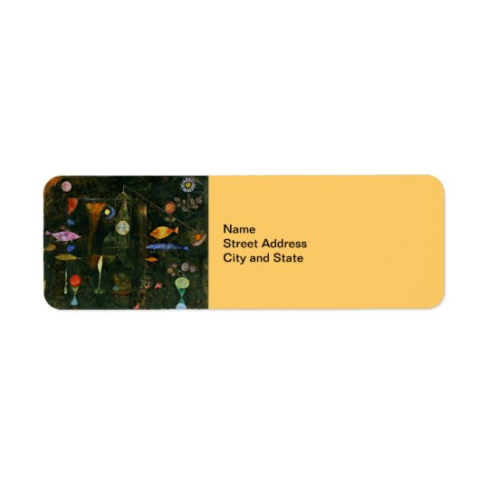 Paul Klee-Kunst: Fisch-Magie, berühmte Klee Rücksendeetiketten