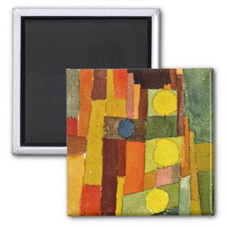 Paul Klee-Kunst: Im Stil Kairouan Quadratischer Magnet