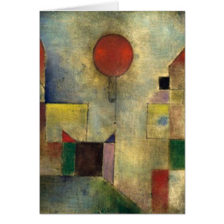 Paul Klee-Rot-Ballon Karte