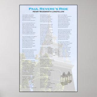 Paul Reveres Mitternachtsfahrt durch Longfellow Poster