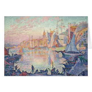 Paul Signac - der Hafen des Heiligen-Tropez Grußkarte