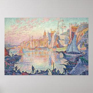 Paul Signac - der Hafen des Heiligen-Tropez Poster