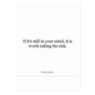 Paulo Coelho-Zitat Postkarte
