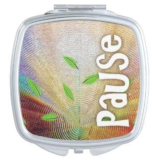 Pause - kompakter Spiegel Taschenspiegel