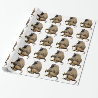 Pavian Geschenkpapier