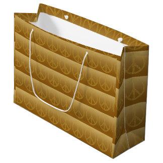 Paxspiration Friedenszeichen-große Geschenk-Tasche Große Geschenktüte