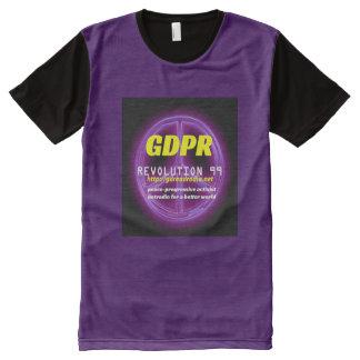 Paxspiration GDPR amerikanisches T-Shirt Mit Komplett Bedruckbarer Vorderseite