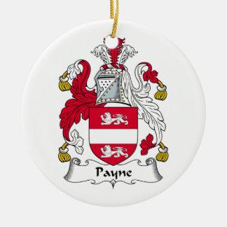 Payne Familienwappen Keramik Ornament