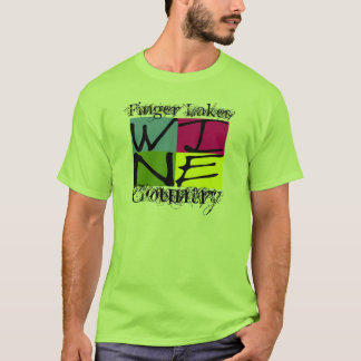 Pays de vin de lacs finger t-shirt