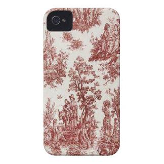 Pays français vintage Toile rouge Blackberry audac Coque iPhone 4 Case-Mate