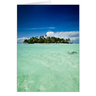 Pazifikinsel mit Palme-Grußkarte Karte
