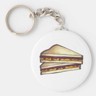 PB&J Erdnussbutter-Gelee-Sandwich-Nahrung Keychain Schlüsselanhänger