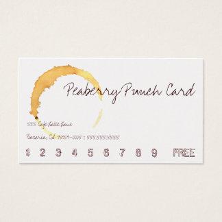 Peaberry Kaffee-Getränk-Lochkarte Visitenkarten
