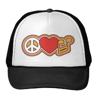 PEACE-LOVE-MUSIC TRUCKERMÜTZEN