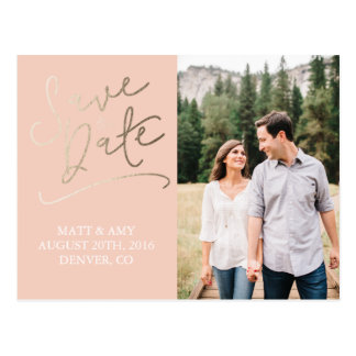 Peached Save the Date Postkarte