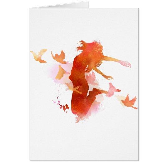 Peagon Blumeunicorn-Vogel Grußkarte