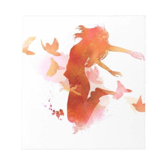 Peagon Blumeunicorn-Vogel Notizblock