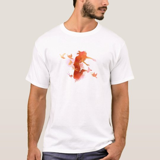 Peagon Blumeunicorn-Vogel T-Shirt