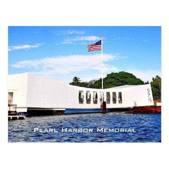 Pearl- Harbordenkmal gelegen in Honolulu, Hawaii Postkarte
