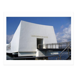 Pearl- Harbordenkmal-Postkarte Postkarte