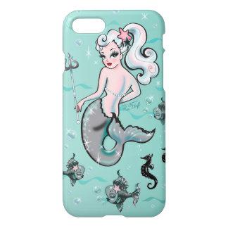 Pearla Meerjungfrau, die zurück Mobiltelefonkasten iPhone 8/7 Hülle